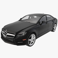mercedes-benz cls-class coupe 2014 3d model