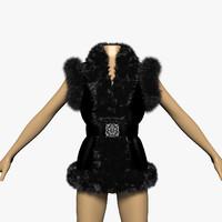 fur vest 3d model