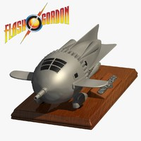 3d model flash gordon rocket ship