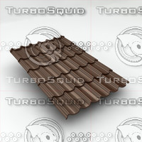 3d metal roof tiles sheet