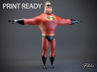 3d mr incredible printable
