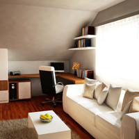 3d minimalist home office 2