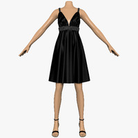 dress sequins female mannequin 3d model