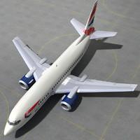 boeing 737 500 - 3d max