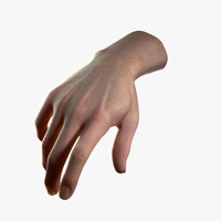 Realistic Male Hand (Jointed)