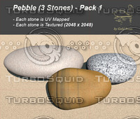 pebble pack 1 3d obj