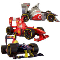 3d cartoon formula 1 model