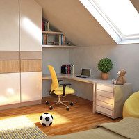 3d minimalist children s room model