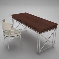 3d model desks home