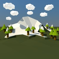 3d real mountain landscape