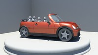 3d model convertible car