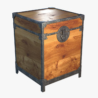 antique chest 3d max