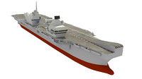 free hms queen elizabeth aircraft carrier 3d model