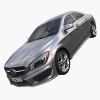 3d 2015 mercedes benz cla model