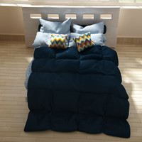 maya bed blanket pillows