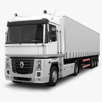 3d model renault magnum 500 trailer truck