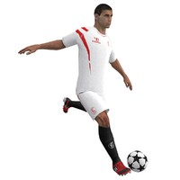 rigged soccer player 3d model