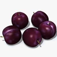 3d plum damson