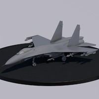 chinese fighter j11a sukhoi 3d model