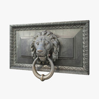 3d lion head door knocker model