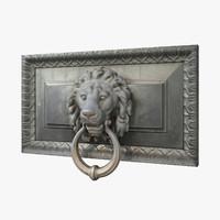 3d lion head door knocker model