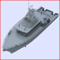 3d model boat launch