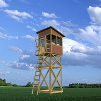3d wooden guard tower