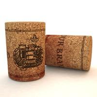 free vine cork 3d model
