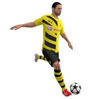 rigged soccer player 3d max