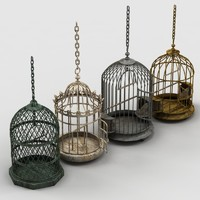 3d birdcages decorations model