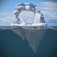 3d model ice iceberg berg