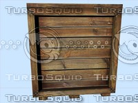 3d model wood box