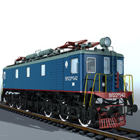 3d model of electric locomotiv vl22m locomotives