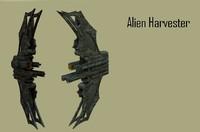 3d model of alien spaceship