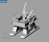 platform offshore oil 3d model