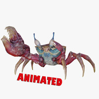 3d obj sea crab