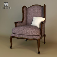 classic english armchair 3d