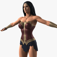 wonder woman costume inspired 3d lwo