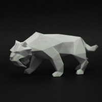 saber toothed tiger faceted 3d 3ds