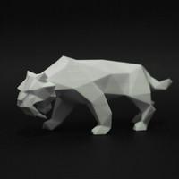 saber toothed tiger faceted 3d 3ds