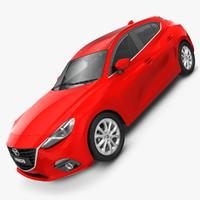 3d model mazda 3 hatchback 2014