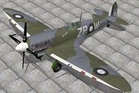 supermarine spitfire 3d max