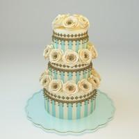 3d model wedding cake 09
