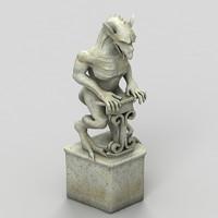 3d gargoyle statue model