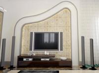 3dsmax tv wall