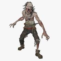 3d zombie warrior