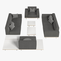 lounge chairs fur 3d model
