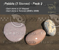 3d model pebble pack 2