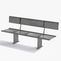 metal bench 3d max