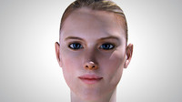 photorealistic head young woman 3d c4d